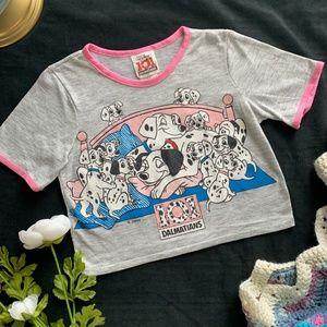 Vintage Disney 101 Dalmatians Graphic Ringer Tee